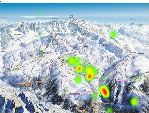 Analyse quantitative de l'activité utilisateur zones d'intérêt issues de mesures oculométriques (heat maps par eye-tracking glasses) 09-2015